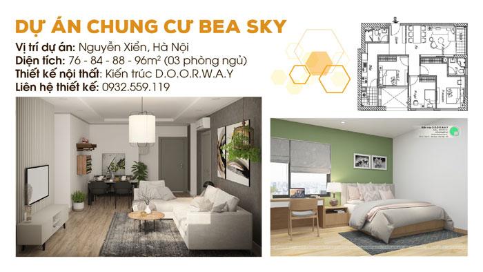 1-thiết kế nội thất, thi công nội thất by kiến trúc Doorway, thiết kế nội thất chung cư Bea Sky