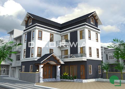 Thiết kế biệt thự 3 tầng hiện đại nhà anh Chung ở Tân Hội by doorway góc 01
