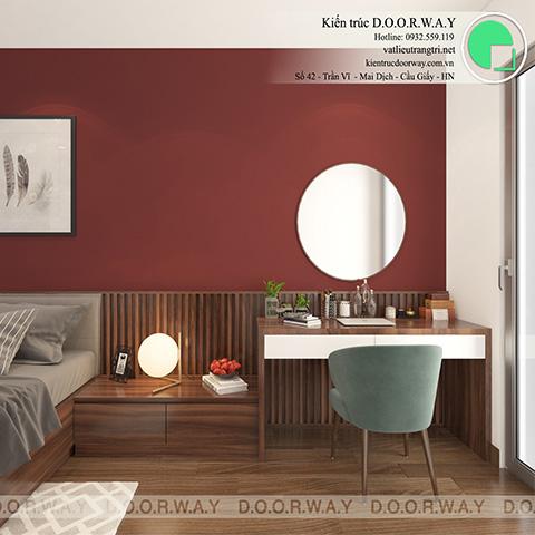 Thiết kế nội thất phòng ngủ 25m2 dành cho gia chủ chị Thoa ở Hà Đông Hà Nội by doorway - góc 02