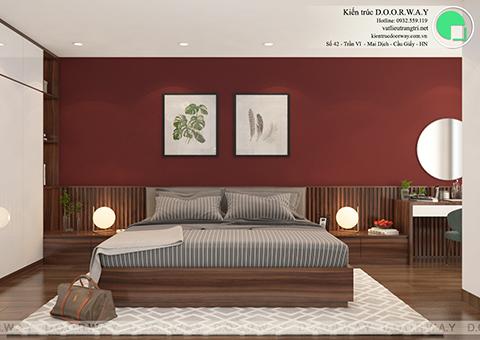 Thiết kế nội thất phòng ngủ 25m2 dành cho gia chủ chị Thoa ở Hà Đông Hà Nội by doorway - góc 01
