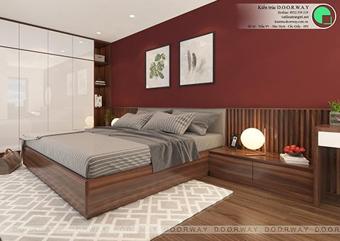 Thiết kế nội thất phòng ngủ 25m2 dành cho gia chủ chị Thoa ở Hà Đông Hà Nội by doorway - góc 03