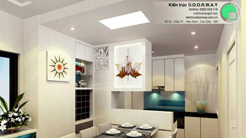 Thiết kế và thi công nội thất phòng bếp by kiến trúc doorway