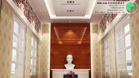 Thiết kế nội thất phòng truyền thống viện khoa học giáo dục by kiến trúc doorway ảnh tiêu biểu