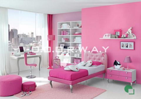 Giấy dán tường phòng ngủ màu hồng phòng 05