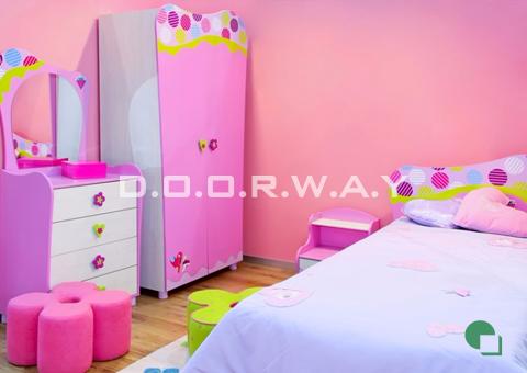 Giấy dán tường phòng ngủ màu hồng trơn phòng 02