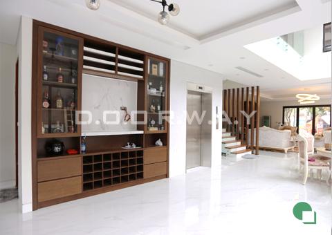 Thi công nội thất biệt thự nội thất phòng khách nhà anh Đức ở Vĩnh Phúc by Doorway góc 03