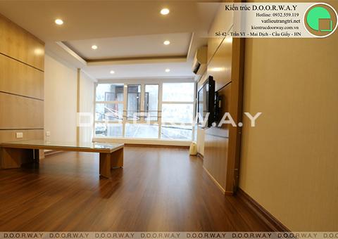 Thi công nội thất chung cư hiện đại anh Minh Trần Phú by kiến trúc Doorway phòng khách góc 01