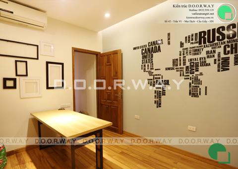 Thi công nội thất nhà ống 6 tầng 200m2 nhà anh Việt ở Lĩnh Nam by kiến trúc Doorway phòng đọc sách góc 02