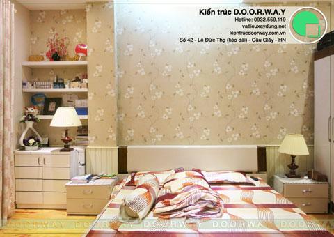 Thi công nội thất phòng ngủ 20m2 nhà anh Dương ở Đồng Xa by kiến trúc Doorway góc 01