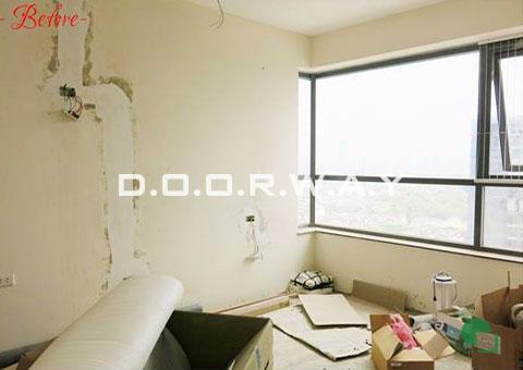 Thi công nội thất phòng ngủ cho 2 bé nhà anh Nam chị Bình by DOORWAY - kệ sách & bàn đọc sách - 01-trước thi công