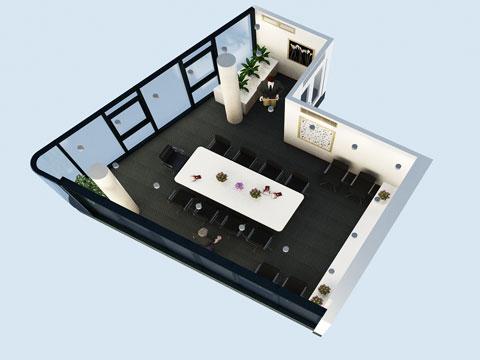 Thi công nội thất văn phòng công ty Hà Hùng by kiến trúc Doorway phòng họp 02 góc 01