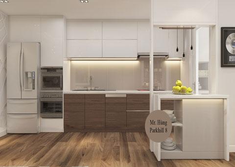 Thi công nội thất tủ bếp Par Hill 8 nhà anh Hùng by kiến trúc Doorway ảnh thiết kế góc 01