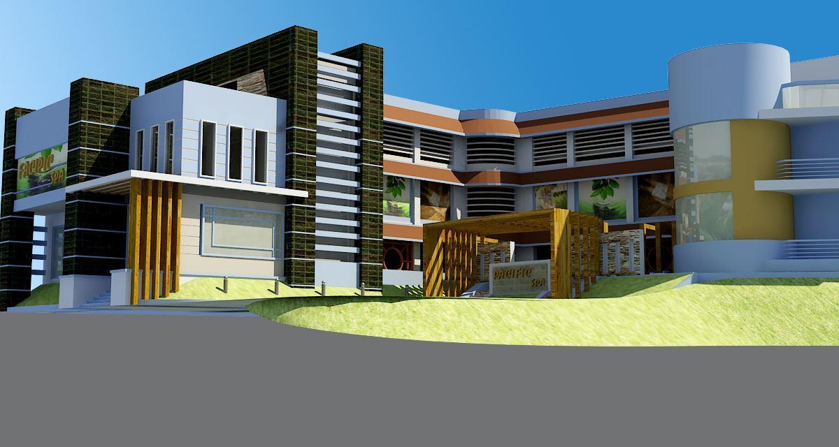 Thiết kế kiến trúc khách sạn Pacific Quảng Ninh by doorway góc 01
