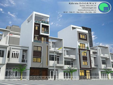 Thiết kế kiến trúc nhà ống 5 tầng 1 tum nhà anh Thế tại Nghi Tàm, Hồ Tây by kiến trúc Doorway 2 phương án góc 02