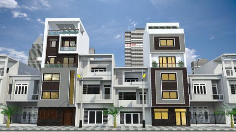 Thiết kế kiến trúc nhà ống 5 tầng 1 tum nhà anh Thế tại Nghi Tàm, Hồ Tây by kiến trúc Doorway ảnh tiêu biểu