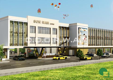 Thiết kế nhà hàng tiệc cưới Sơn Nam tại Nam Định by kiến trúc Doorway góc 01