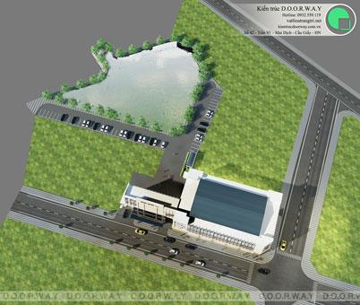 Thiết kế nhà hàng tiệc cưới Sơn Nam tại Nam Định by kiến trúc Doorway góc 04