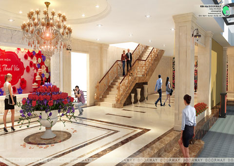 Thiết kế nhà hàng tiệc cưới Sơn Nam tại Nam Định by kiến trúc Doorway góc 05