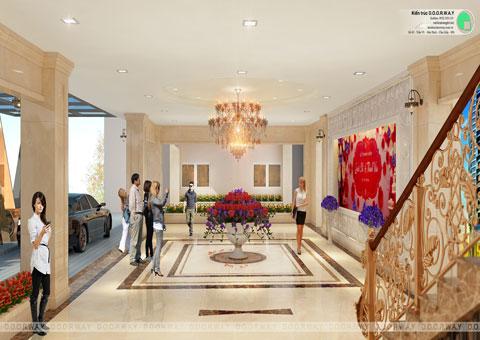 Thiết kế nhà hàng tiệc cưới Sơn Nam tại Nam Định by kiến trúc Doorway góc 06