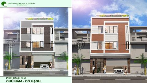 Thiết kế nhà phố 3 tầng hiện đại 1 tum chú Nam cô Hạnh tại Phú Mỹ by doorway ảnh tiêu biểu