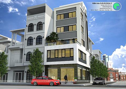 Thiết kế nhà phố 5 tầng đẹp lạ nhà anh Thái 2017 by Doorway góc 02