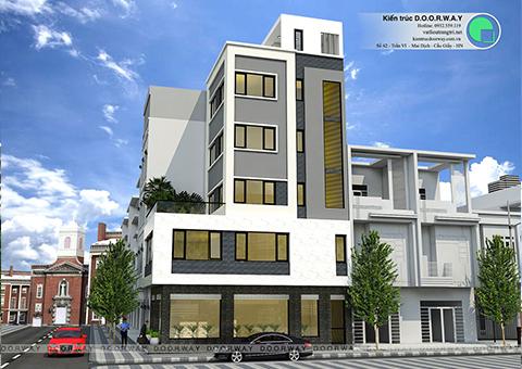 Thiết kế nhà phố 5 tầng đẹp lạ nhà anh Thái 2017 by Doorway góc 03