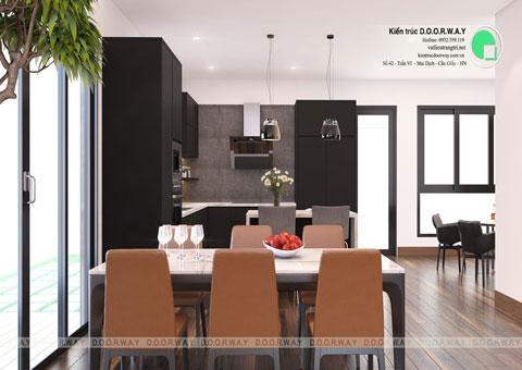 Thiết kế nội thất biệt thự Ecopark nhà chú Duy by kiến trúc Doorway phòng bếp góc 02