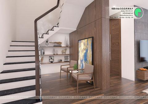 Thiết kế nội thất biệt thự Ecopark nhà chú Duy by kiến trúc Doorway phòng khách góc 04