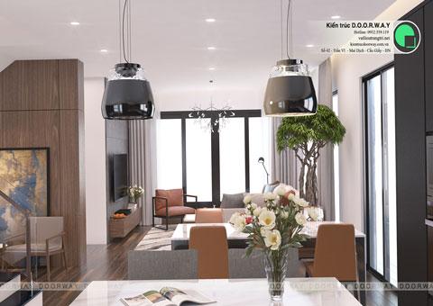 Thiết kế nội thất biệt thự Ecopark nhà chú Duy by kiến trúc Doorway phòng khách góc 05