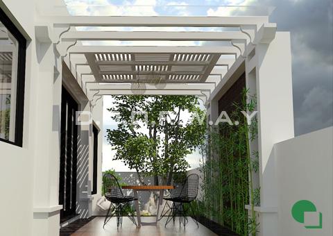 Thiết kế nội thất biệt thự Ecopark nhà chú Duy by kiến trúc Doorway tiểu cảnh sân vườn góc 02