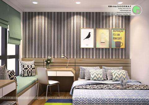 Thiết kế nội thất chung cư cao cấp Park Hill 3 150m2 nhà anh An by kiến trúc Doorway phòng ngủ master góc 01