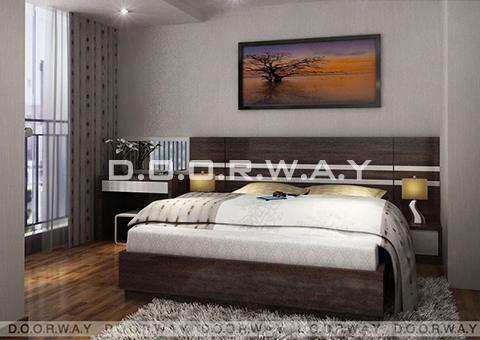 Thiết kế nội thất chung cư Intracom Cầu Diễn 130m2 nhà chị Hải by kiến trúc Doorway phòng ngủ ông bà góc 01