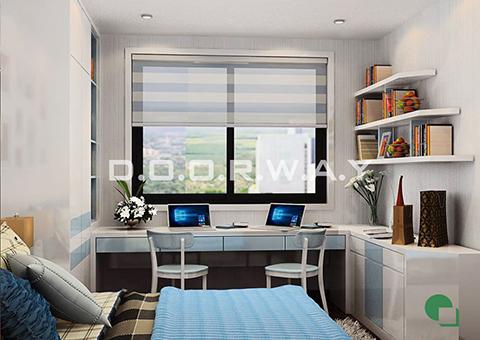 Thiết kế nội thất chung cư Tây Hà 119m2 nhà cô Thu chú Tường by kiến trúc Doorway phòng ngủ 01 góc 01