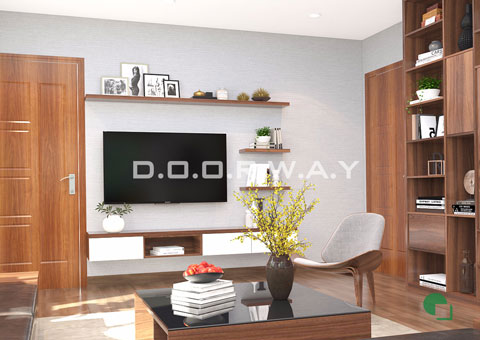 Thiết kế nội thất phòng khách 30m2 nhà anh Tuấn ở KĐT Việt Hưng by doorway thiết kế góc 03