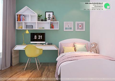 Thiết kế nội thất chung cư 60m2 Sun Square nhà chị Thanh by kiến trúc Doorway phòng ngủ 02 góc 01