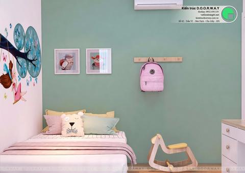 Thi công nội thất chung cư 2 phòng ngủ nhà chị Thanh Sunsquare by kiến trúc Doorway phòng ngủ 2 góc 02