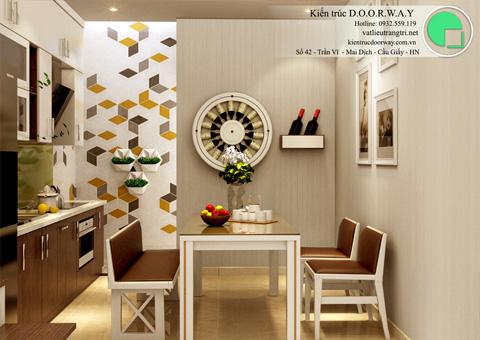 Báo giá thi công nội thất phòng bếp 20m2 nhà anh Việt tại Lĩnh Nam by Kiến trúc Doorway góc 01