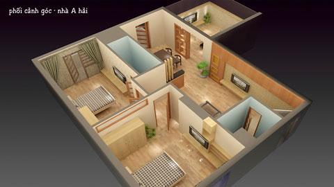 Bố trí nội thất chung cư 2 phòng ngủ 100m2 chung cư Bắc Hà nhà anh Hải by kiến trúc Doorway ảnh tiêu biểu