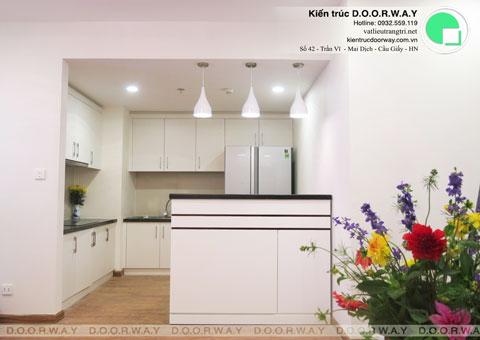 Nội thất chung cư Times City 75m2 nhà anh Nam by kiến trúc Doorway, phòng bếp hoàn thiện thi công góc 05