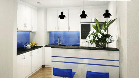Nội thất chung cư Times City 75m2 nhà anh Nam by kiến trúc Doorway, phòng bếp thiết kế ảnh tiêu biểu