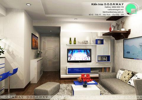 Nội thất chung cư Times City 75m2 nhà anh Nam by kiến trúc Doorway, phòng khách thiết kế góc 01 pa2
