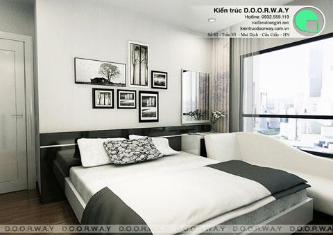 Nội thất chung cư Times City 75m2 nhà anh Nam by kiến trúc Doorway, phòng ngủ master thiết kế góc 01
