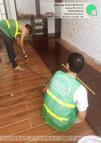 Thi công nội thất phòng ngủ 25m2 tại biệt thự FLC nhà anh Dương chị Liên by kiến trúc Doorway, ảnh thi công tủ áo góc 01