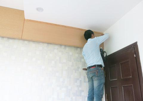 Thi công nội thất phòng ngủ chung cư Mễ Trì Hạ nhà anh Kiên by kiến trúc Doorway vách trần góc 01