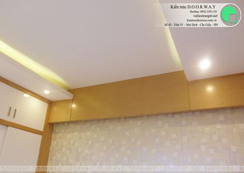 Thi công nội thất phòng ngủ chung cư Mễ Trì Hạ nhà anh Kiên by kiến trúc Doorway vách trần góc 03