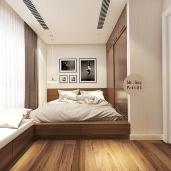 Thi công nội thất phòng ngủ con gái với kệ sách độc đáo by kiến trúc Doorway góc 01
