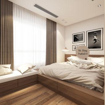 Thi công nội thất phòng ngủ con gái với kệ sách độc đáo by kiến trúc Doorway góc 03