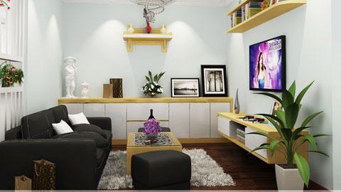 Thiết kế chung cư 1 phòng ngủ tại chung cư Linh Đàm nhà chị Điệp, by kiến trúc Doorway, nội thất phòng khách ảnh tiêu biểu