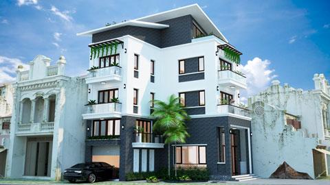 Thiết kế nhà phố 3 tầng 2 mặt tiền nhà anh Minh Sơn tại Hải Dương by kiến trúc Doorway, ảnh tiêu biểu