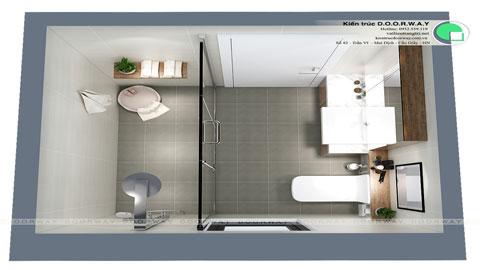 Thiết kế nhà vệ sinh nhỏ đẹp tại Ecohome nhà chị Hà by kiến trúc Doorway ảnh tiêu biểu